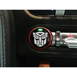 "Push Button Decal ""Autobot"" (2015-2017 Mustang)"