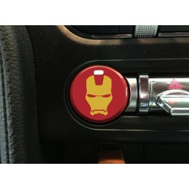 "Push Button Decal ""Ironman"" (2015-2018 Mustang)"