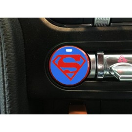 "Push Button Decal ""Superman Blue"" (2015-2018 Mustang)"