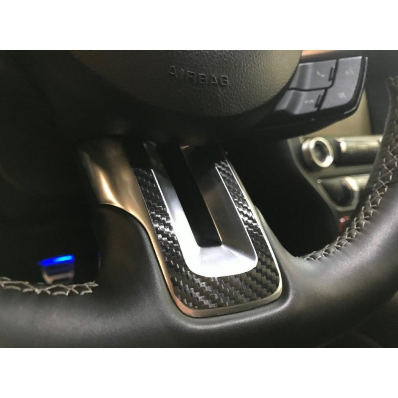 Dash overlay kit 2015 2019 mustang for Carbon fiber mustang interior parts