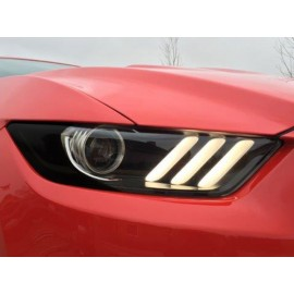 Headlight Amber Corner Lens Vinyl Blackout (2015-2017 Mustang)
