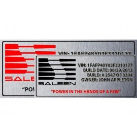 Build Plate Radiator Size SUBLIMATED - SALEEN