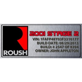 Build Plate Radiator Size SUBLIMATED - ROUSH