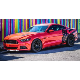 Tattered American Flag Body Graphics (2015-2017 Mustang )