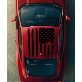 Tattered American Flag Roof Graphics (2015-2017 Mustang)