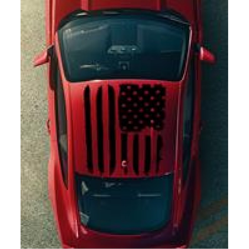 Tattered American Flag Roof Graphics 2005 2020 Mustang