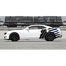 Tattered American Support Flag Body Graphics (2010-2015 Camaro)