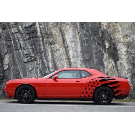 Stars & Bars Body Graphics (2014-2017 Challenger)
