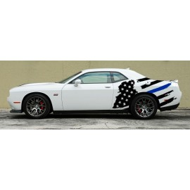 Tattered American Support Flag Body Graphics (2015-2017 Challenger)