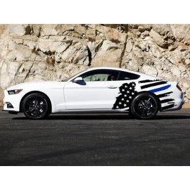 Tattered American Support Flag Body Graphics (2015-2017 Mustang)