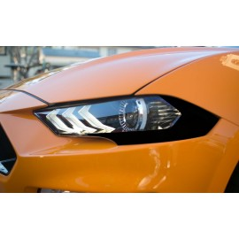 Headlight Amber Corner Lens Vinyl Blackout (2018+ Mustang)
