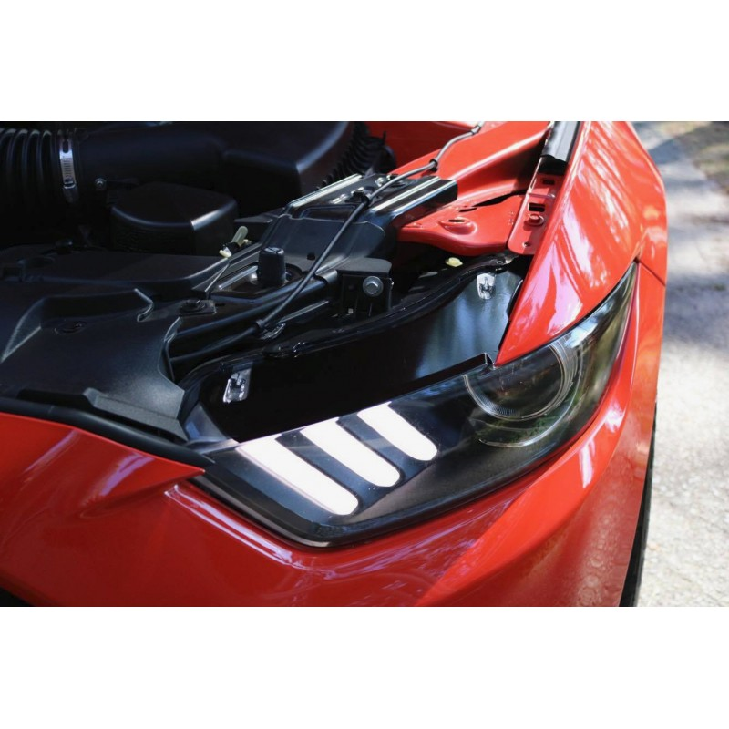 Headlight Top Vinyl Blackout Panels (2015-2017 Mustang)