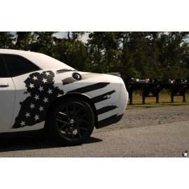 Tattered American Flag Body Graphics (2014-2017 Challenger)